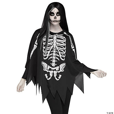 Image result for oriental trading skeleton poncho