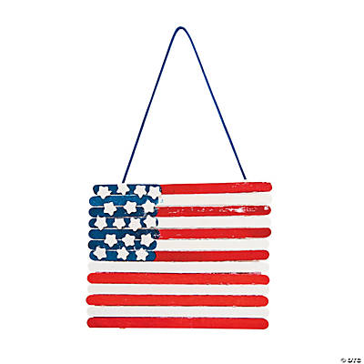 Wooden Craft Stick American Flag Craft Kit