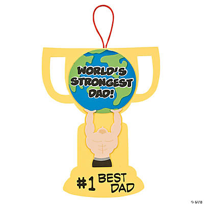 """World's Strongest Dad"" Sign Craft Kit"