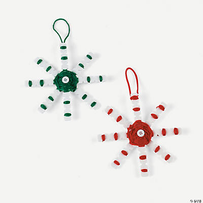 Wrapped Snowflake Christmas Ornament Craft Kit
