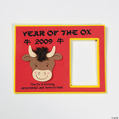 """Year of the Ox"" Photo Magnet Craft Kit"