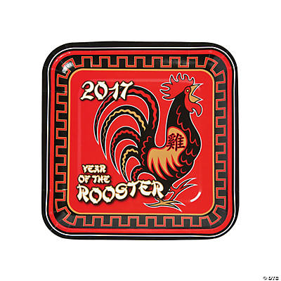 Year of the Rooster Dinner Plates  sc 1 st  Oriental Trading & Year of the Rooster Dinner Plates - Oriental Trading - Discontinued