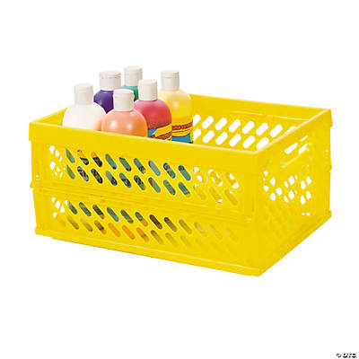 Yellow Foldable Storage Crate