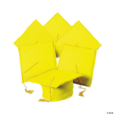 Yellow Graduation Caps