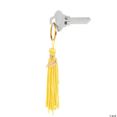 Yellow Graduation Tassel Key Chains