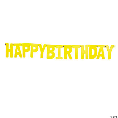 "Yellow ""Happy Birthday"" Jointed Banner"