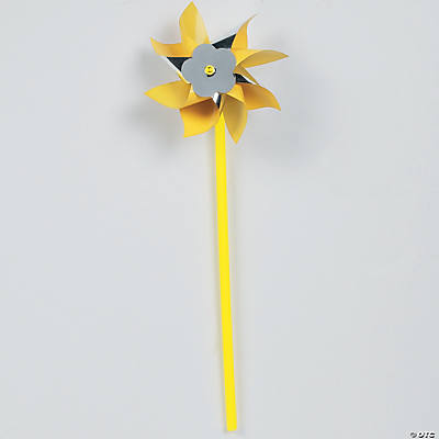 Yellow/Silver Metallic Pinwheels