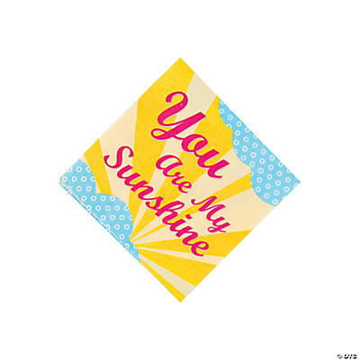 You Are My Sunshine Beverage Napkins
