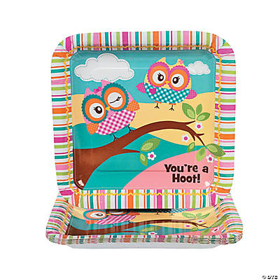 """You're A Hoot"" Dinner Plates"