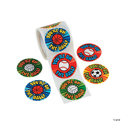 """You're on the Ball!"" Roll of Stickers"