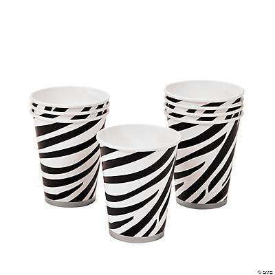 Zebra print cups - Jungle Prints Party Supplies - Birthday Direct