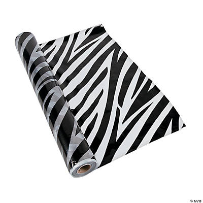 Zebra Tablecloth Roll Oriental Trading Discontinued