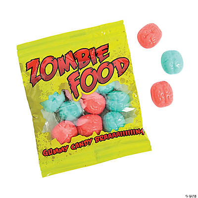 Zombie Food Gummy Candy Candy Packs