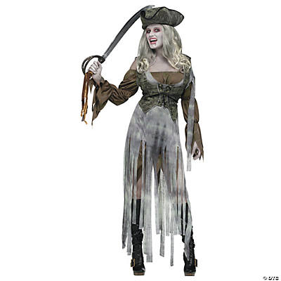 Zombie Pirate Captain Adult Women's Costume