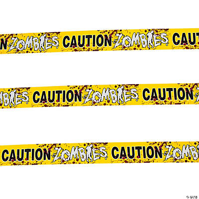 """Zombies Caution"" Party Tape"