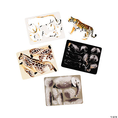 Zoo Animal 3-D Puzzles