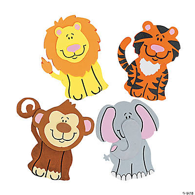 Zoo Animal Magnet Craft Kit