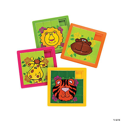 Zoo Animal Slide Puzzles