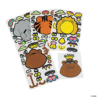 Zoo Animal Sticker Sheets