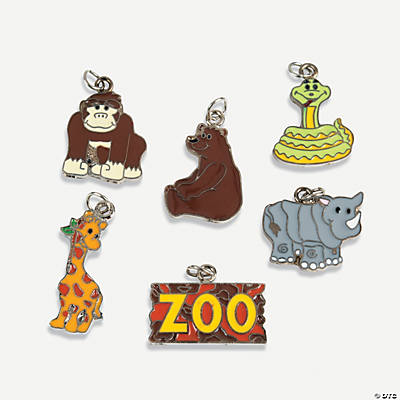 """Zoo"" Enamel Charms"