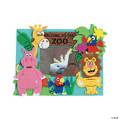 Zoo Picture Frame Magnet Craft Kit