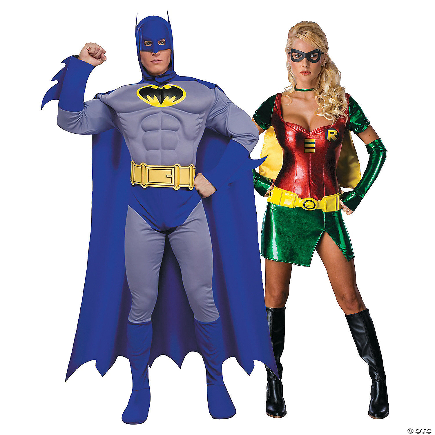 adults-batman-and-robin-couples-costumes  sc 1 st  Oriental Trading & Adultu0027s Batman u0026 Robin Couples Costumes