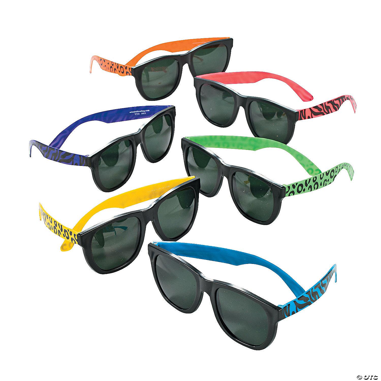 Rhinestone Accented Neon Costume Sun Glasses - Yellow PW1jc