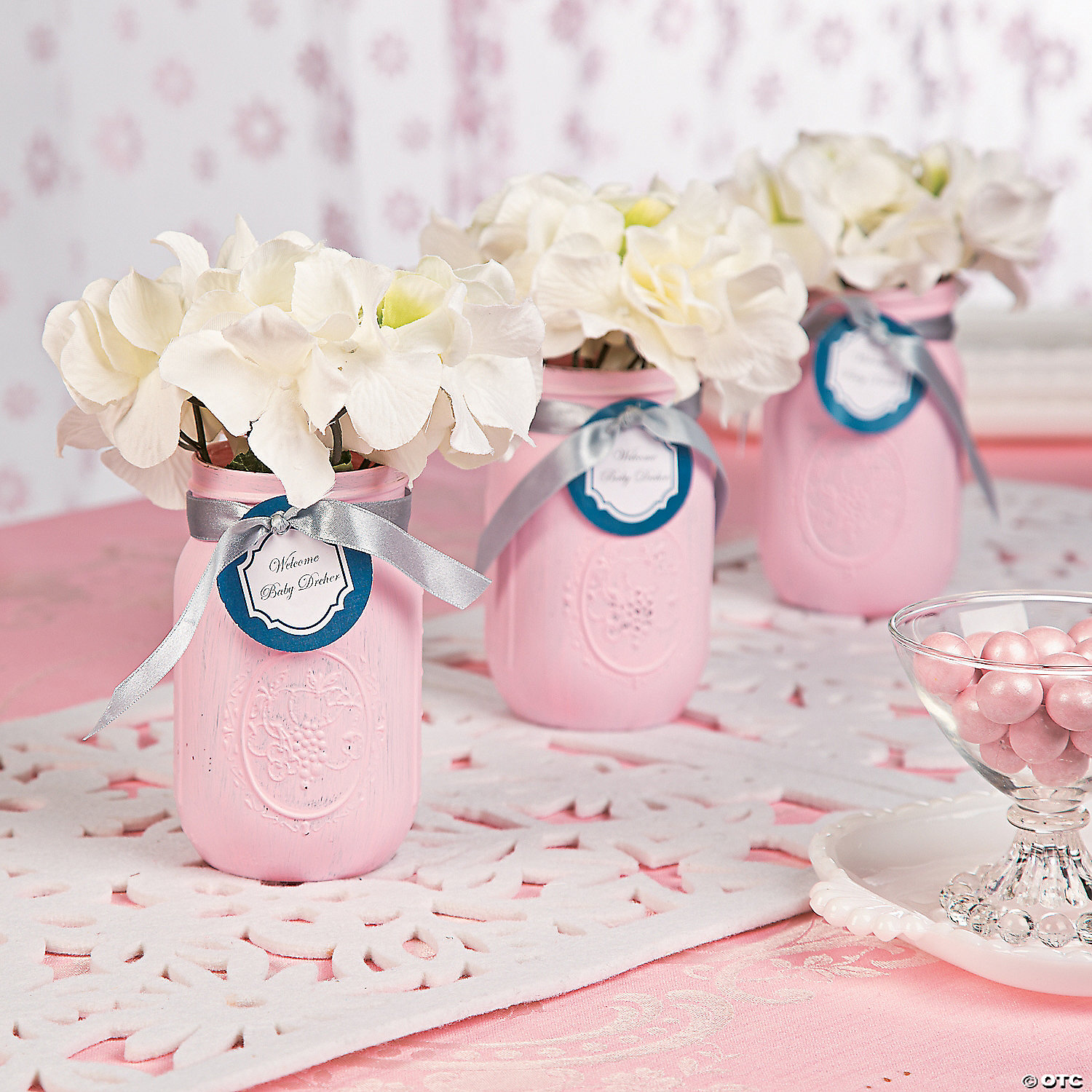 Baby Shower Pink Centerpiece Idea