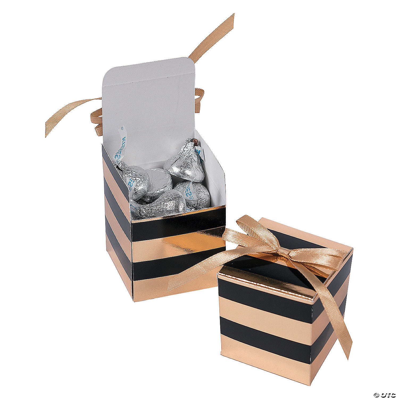 Black & Gold Favor Boxes