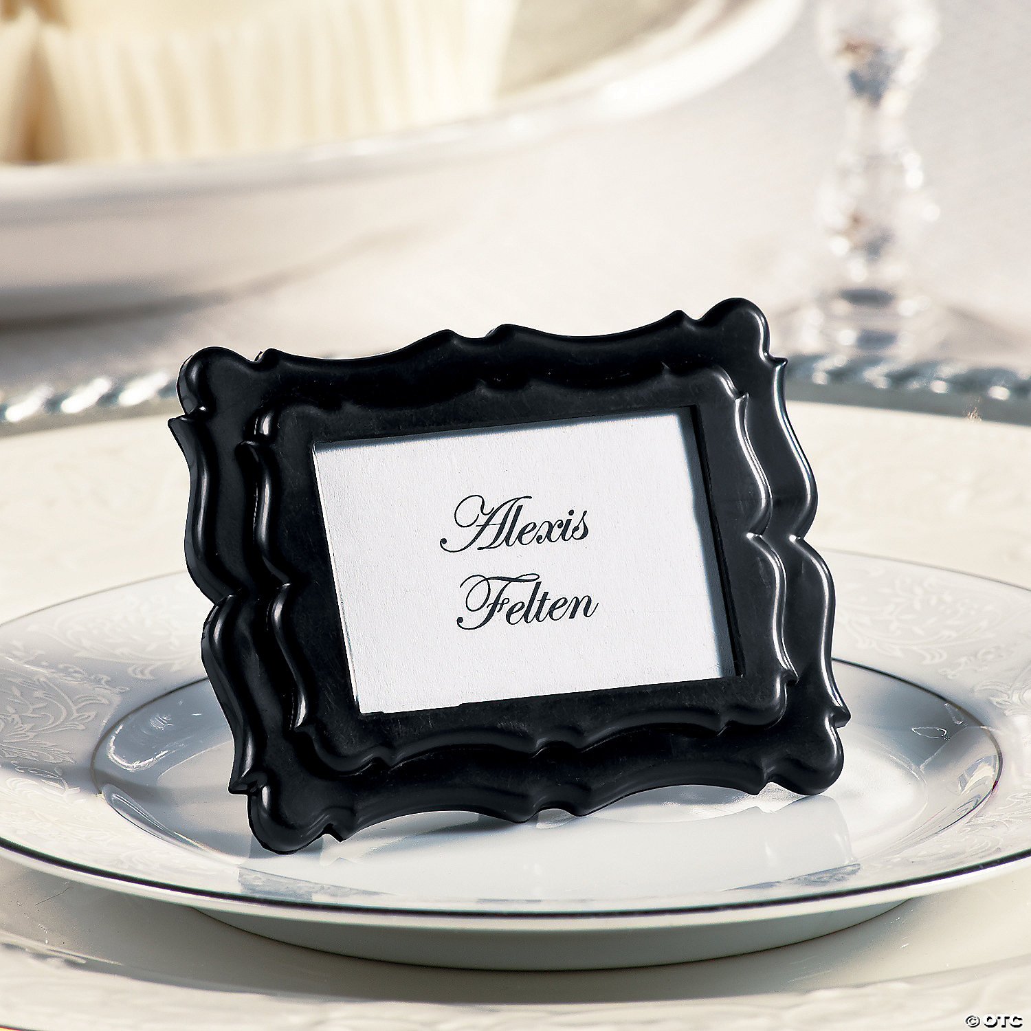 Black Mini Place Card Photo Frames