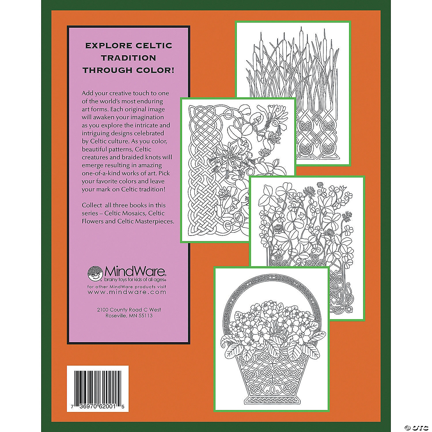 Celtic Flowers Coloring Book