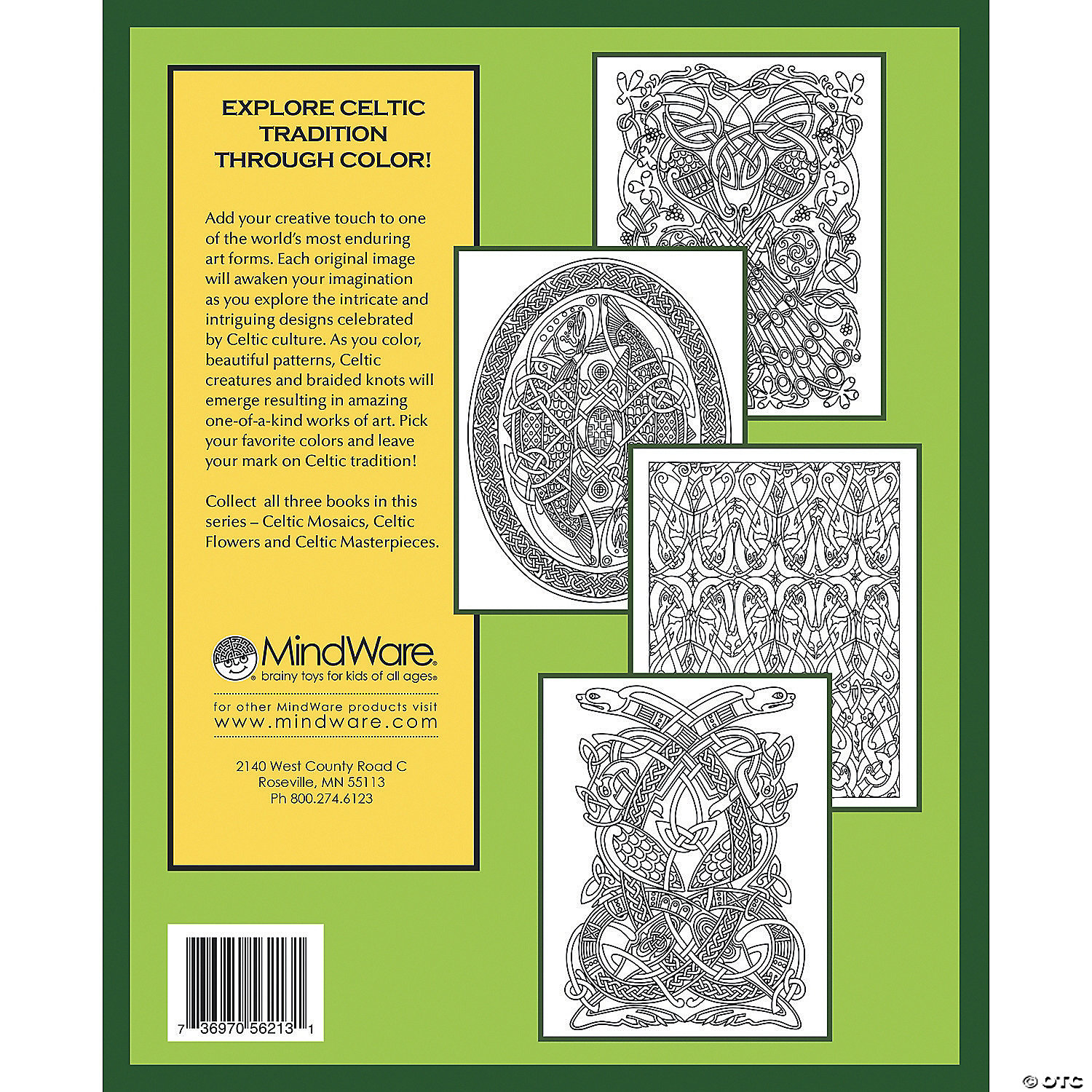 Celtic Masterpieces Coloring Book