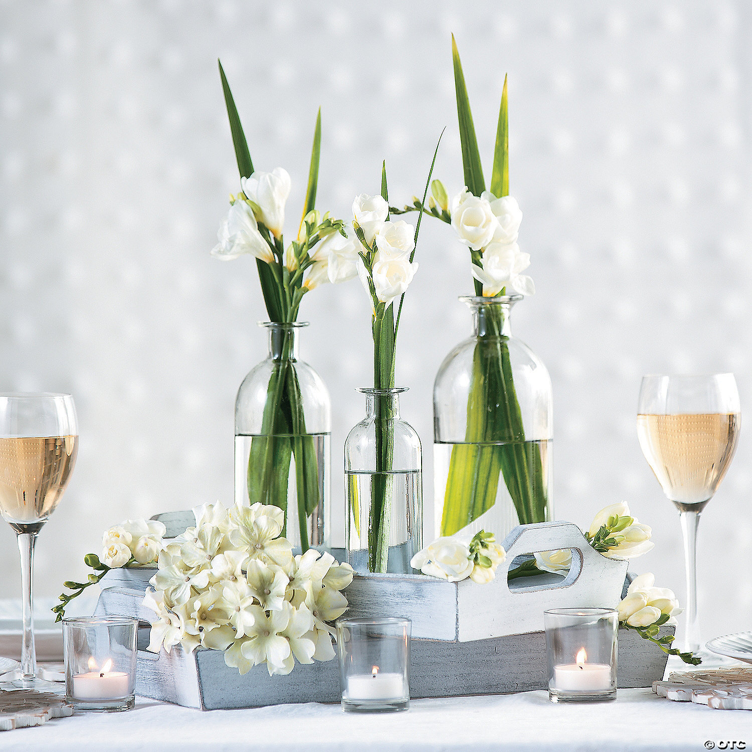 Clear Assorted Bottle Glass Vases