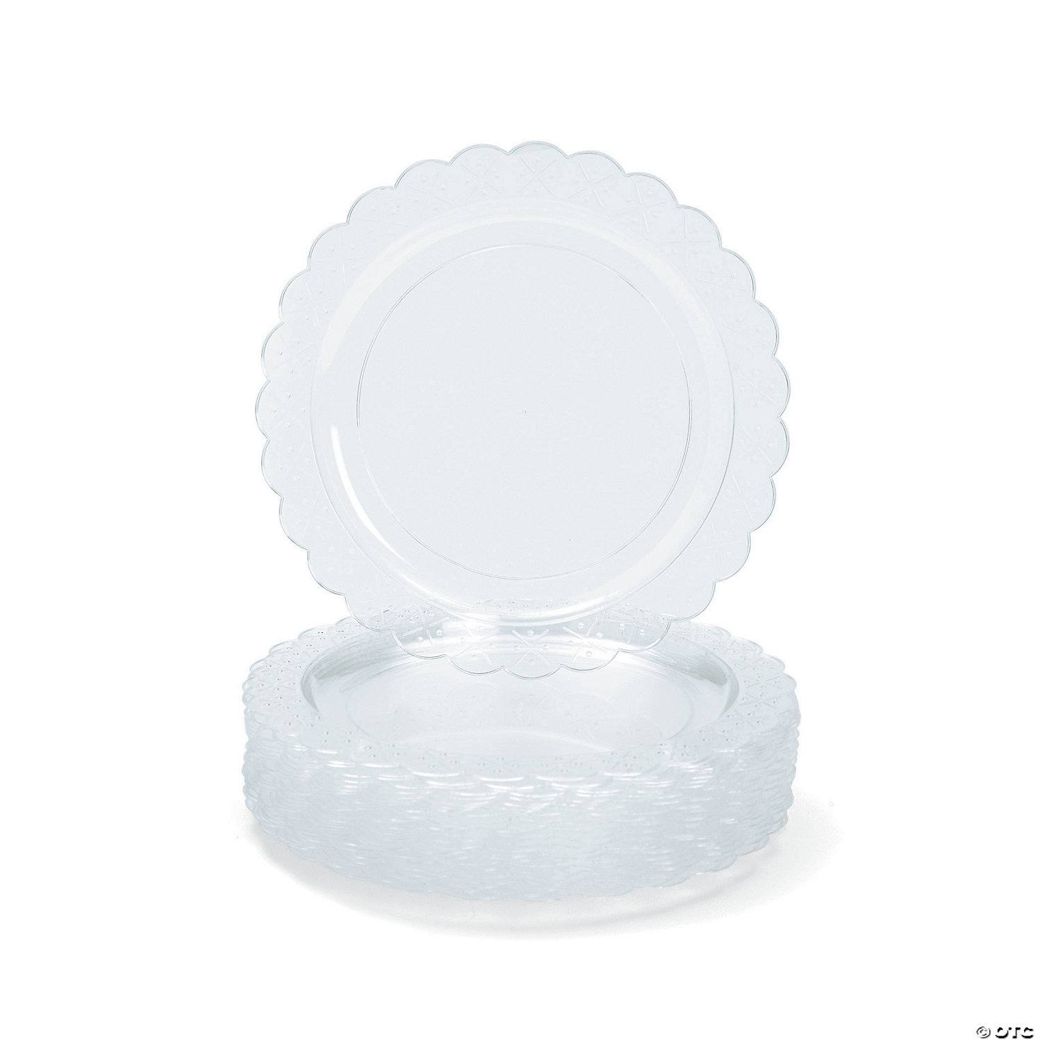 clear plastic dinner plates