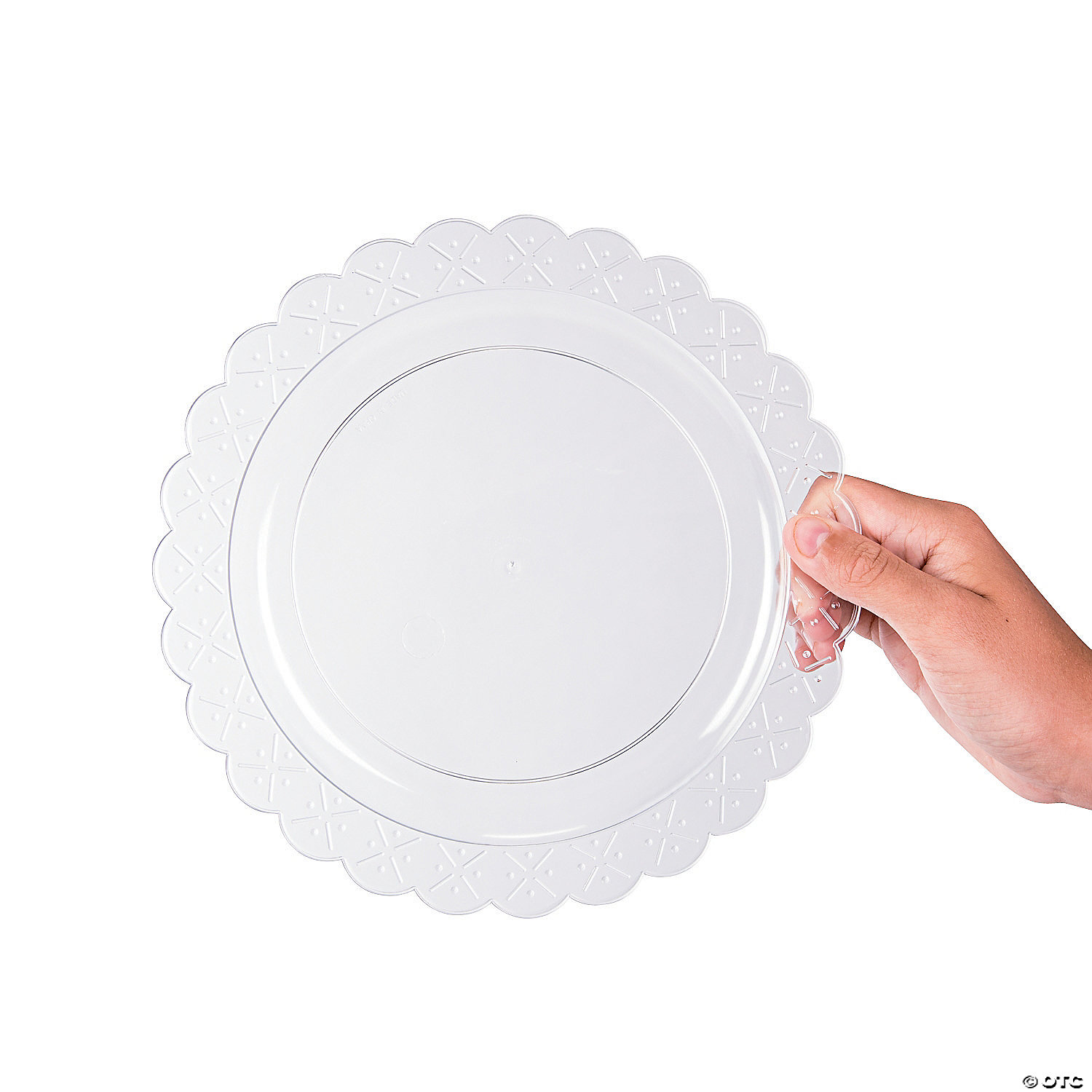 ... clear-scalloped-plastic-dinner-plates ...  sc 1 st  Oriental Trading & Clear Scalloped Plastic Dinner Plates