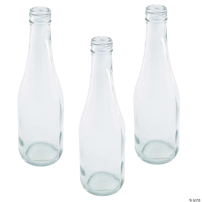 Clear Vintage Soda Bottles
