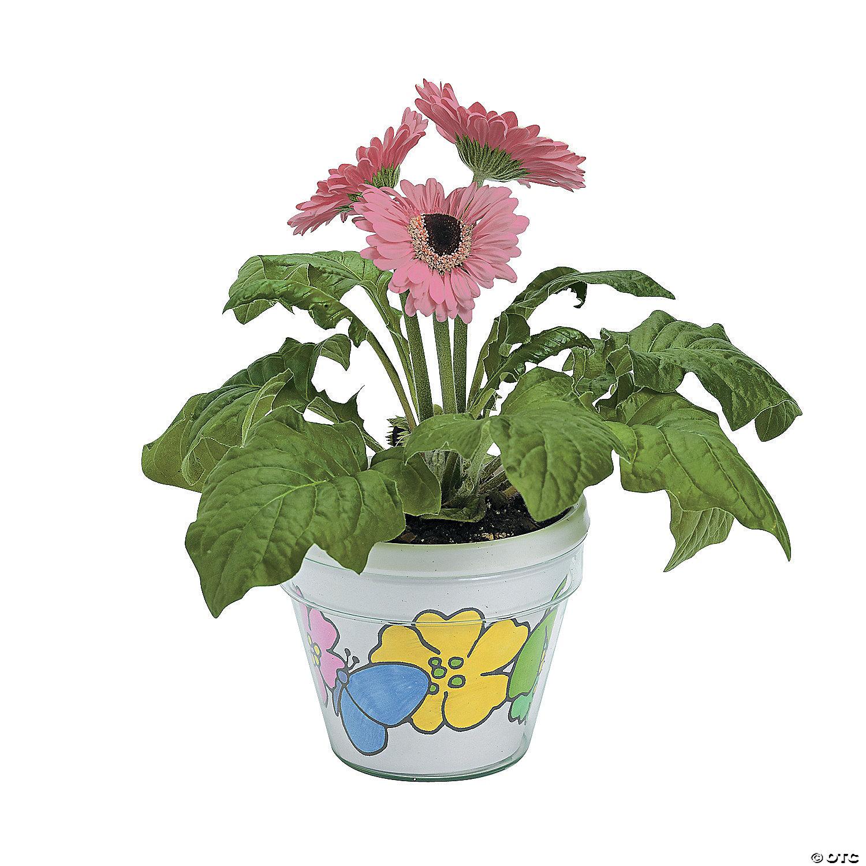 Color Your Own Artist Flowerpots