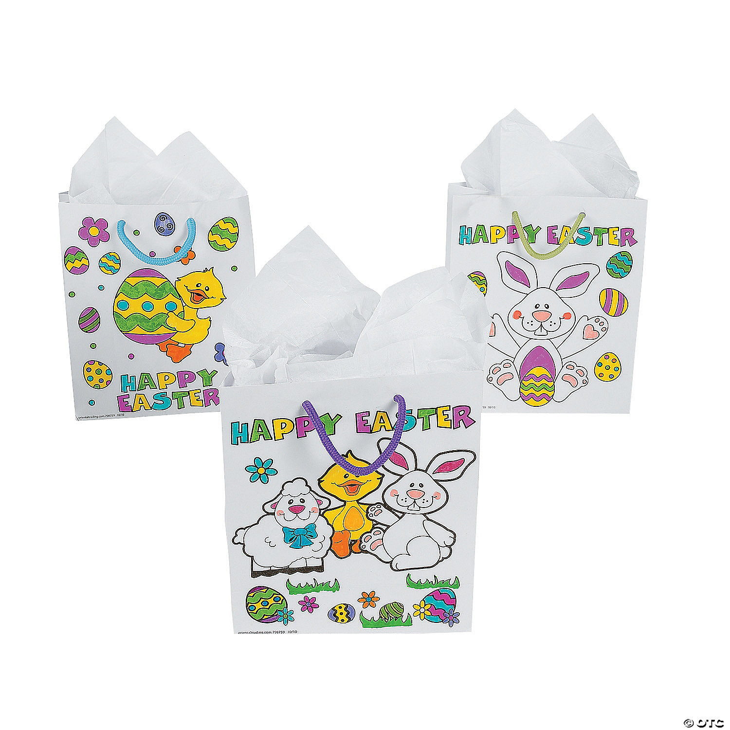Color your own easter gift bags negle Image collections