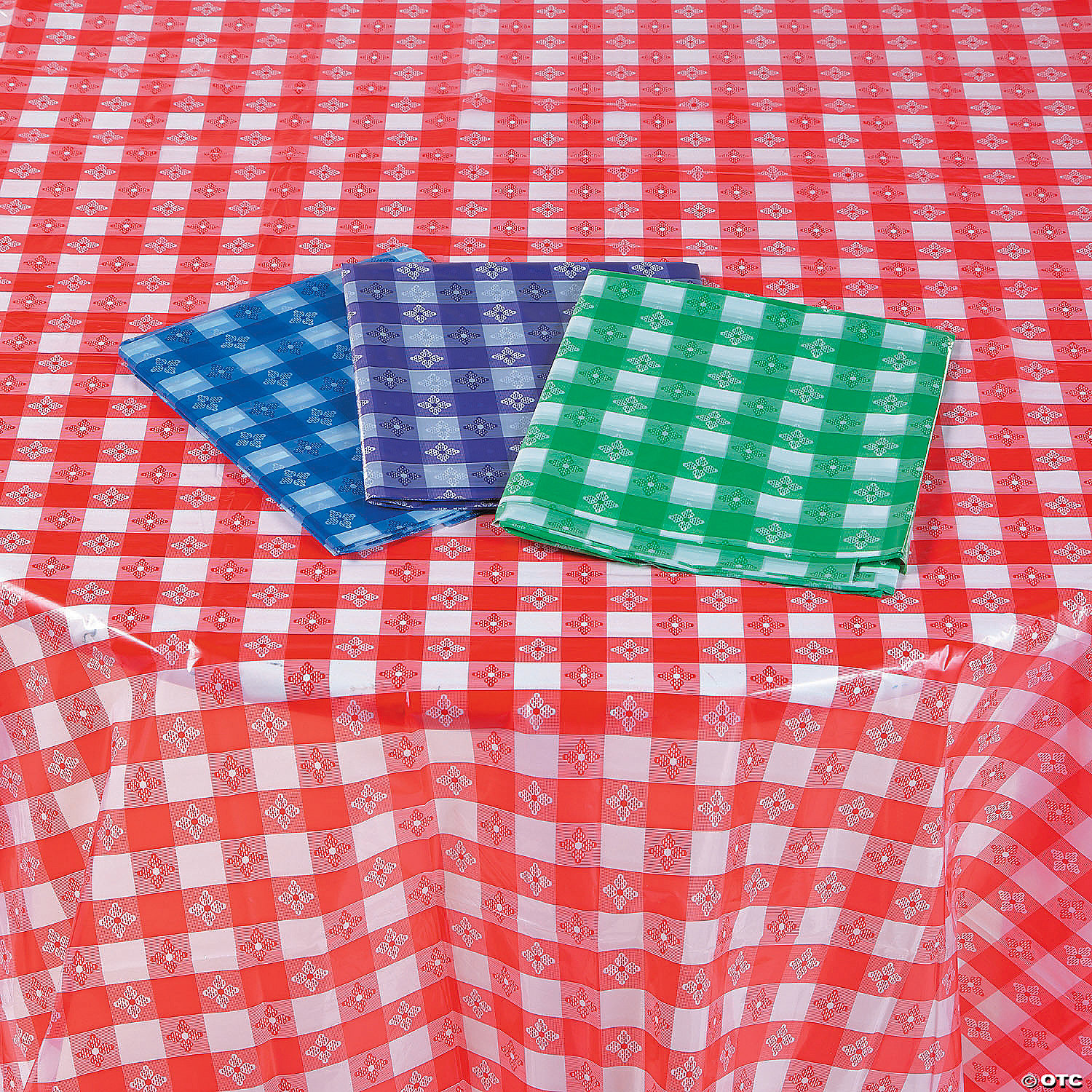 Disposable Checkered Plastic Tablecloth Assortment