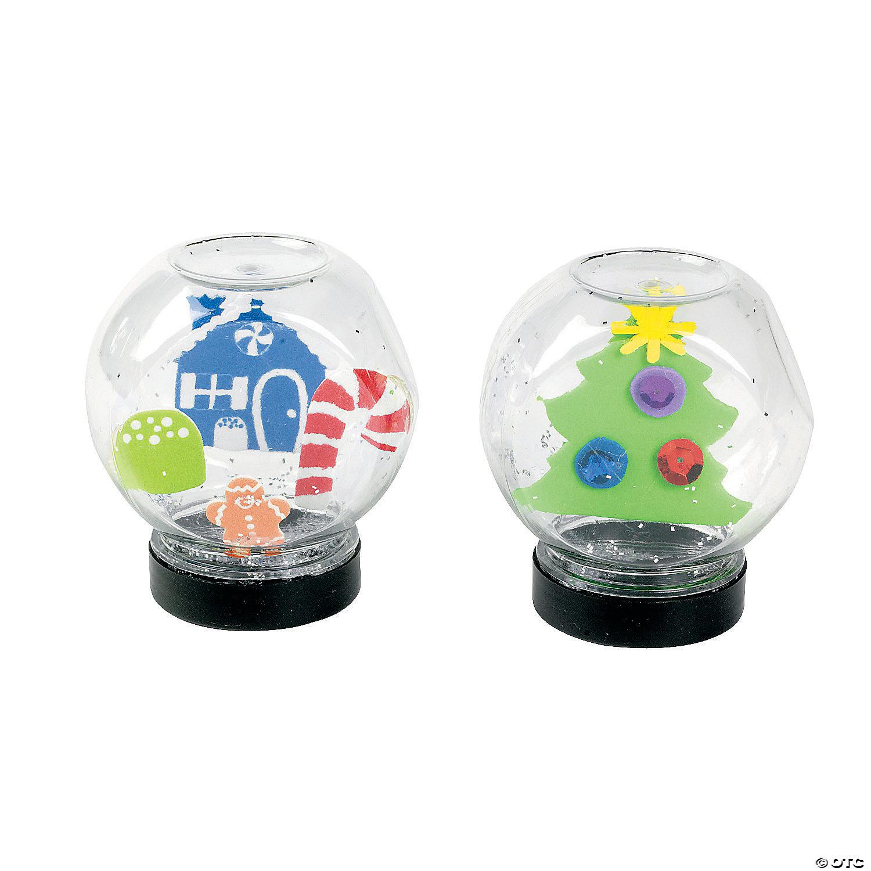 DIY Snow Globe Jars from Oriental Trading