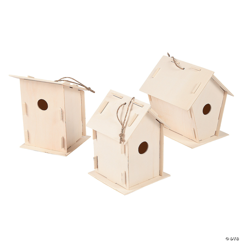 DIY Unfinished Wood Birdhouses