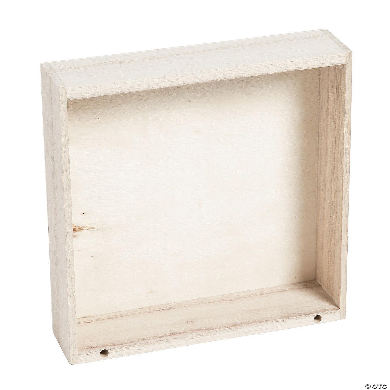 DIY Unfinished Wood Box Frames