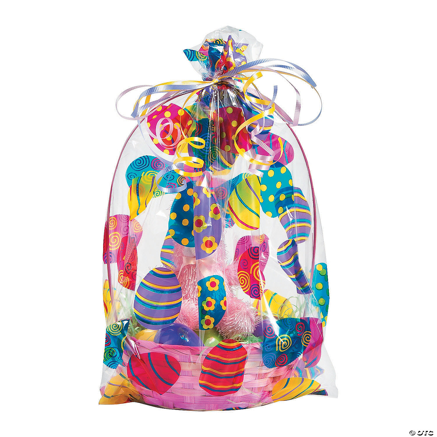 Large clear cellophane gift basket bags quickview image of easter basket cellophane bags with sku261477 negle Images
