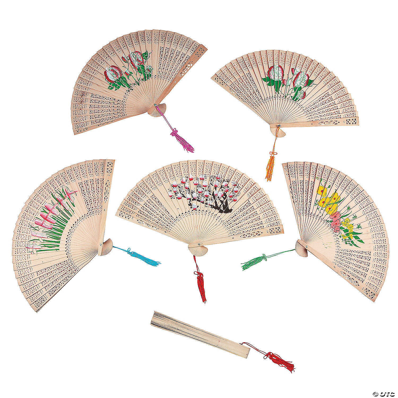 Floral Folding Hand Fans