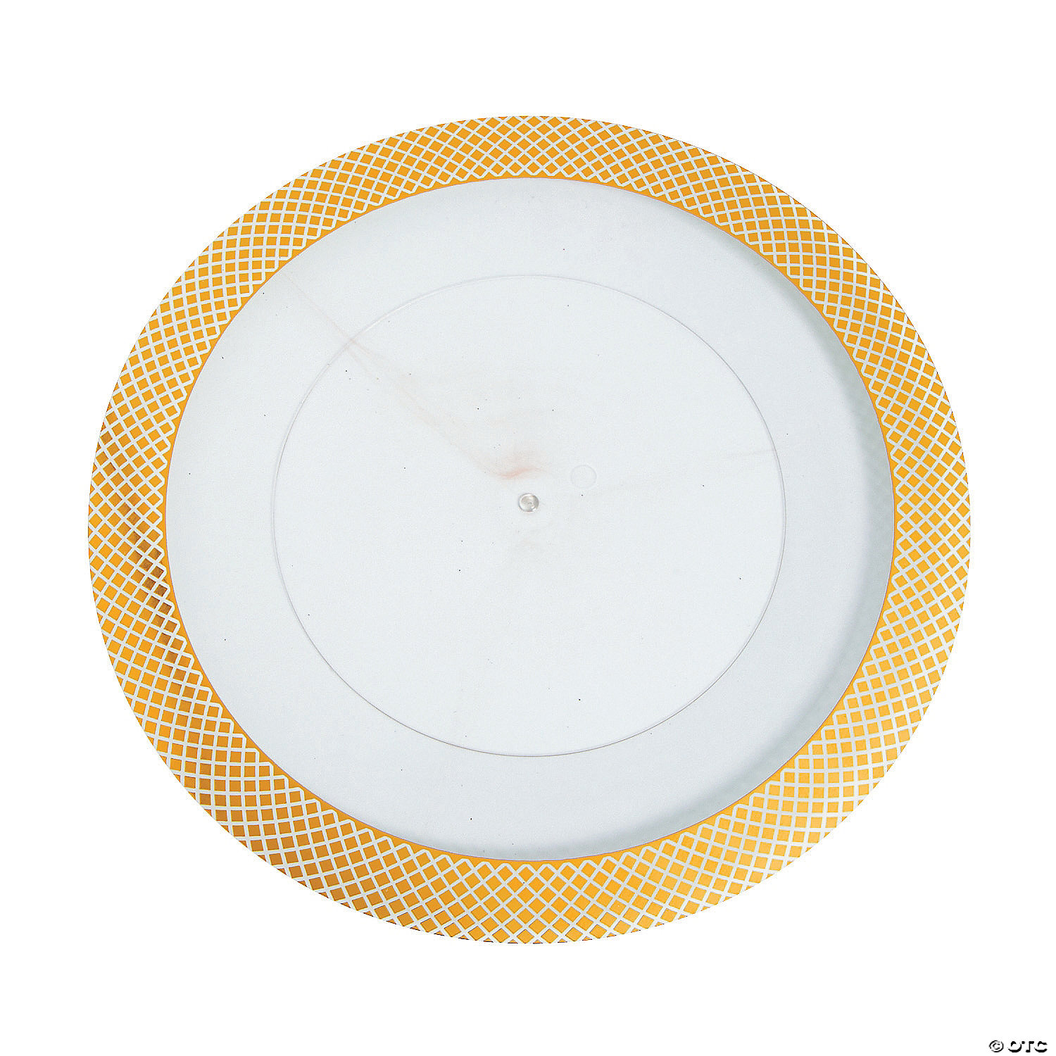Gold Diamond Rim Clear Chargers - Oriental Trading