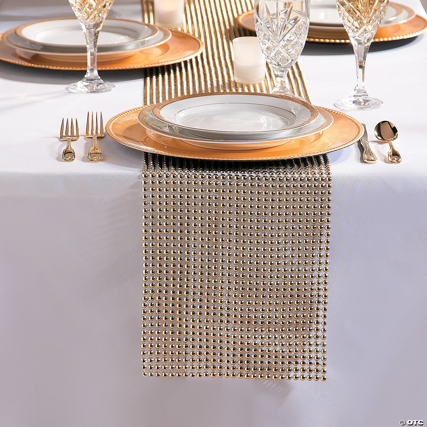 Gold Pearl Table Runner Roll