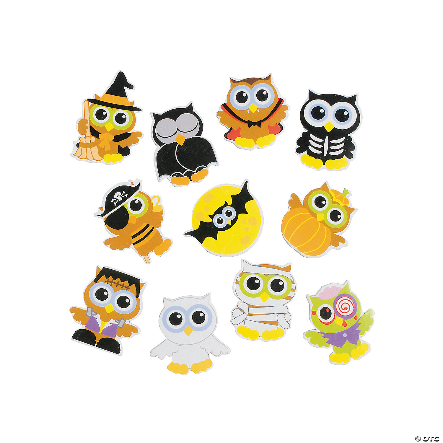halloween owls self adhesive shapes