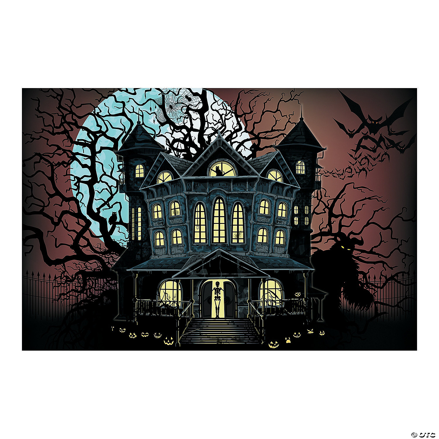 Haunted House Backdrop Banner 3 Piece Set