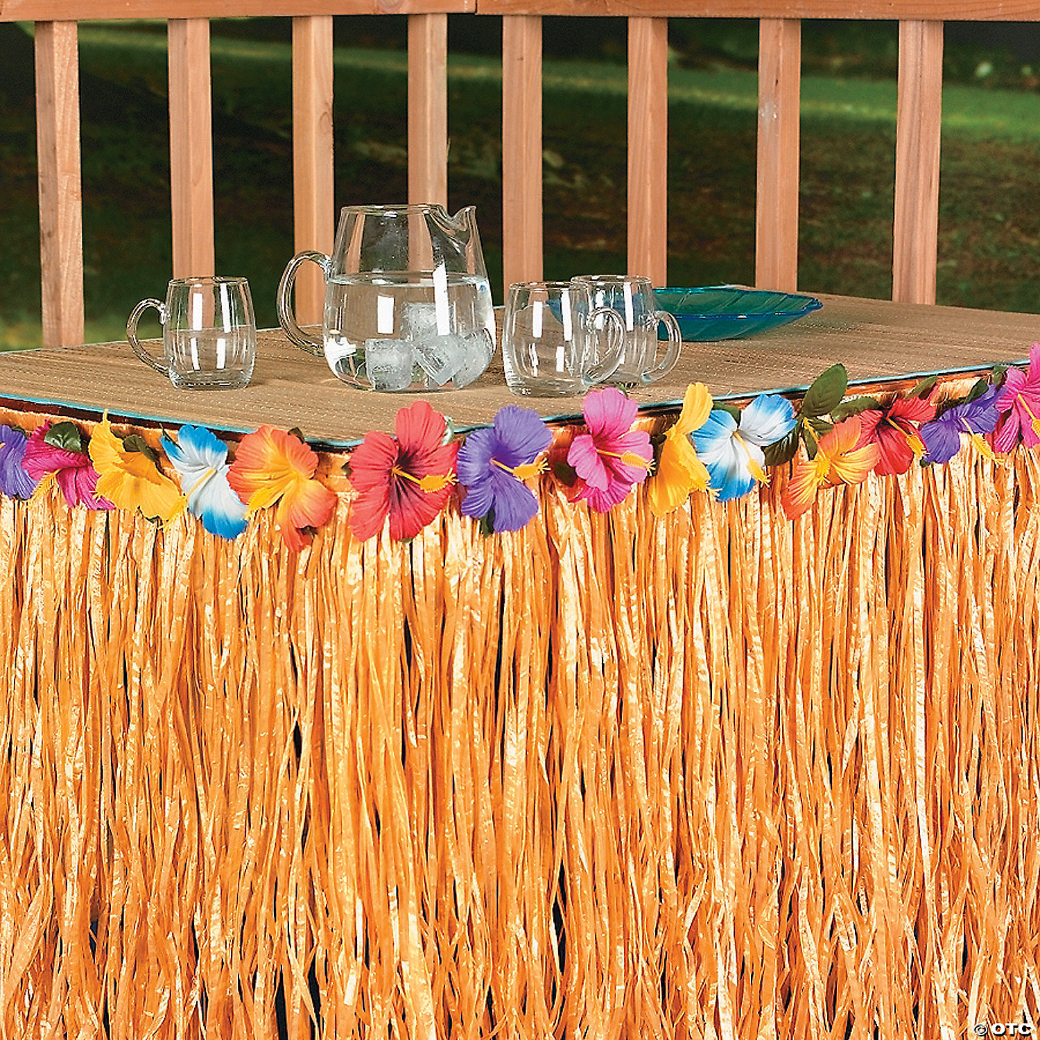 Buffet table skirting - Hibiscus Table Skirt