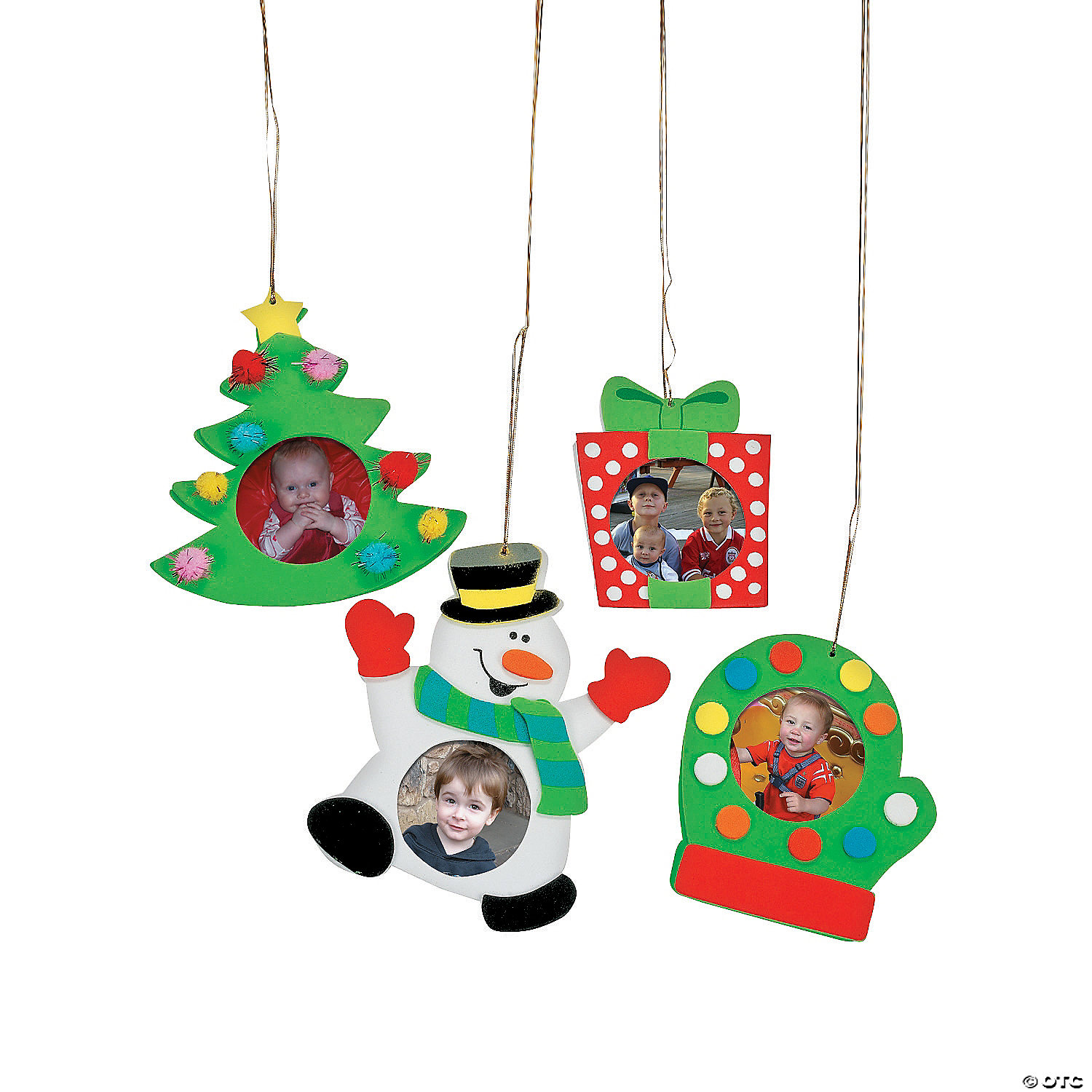 Christmas ornament craft kit - Holiday Picture Frame Ornament Craft Kit